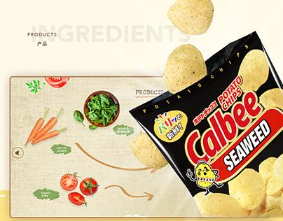 Potato Chips Website Design Product