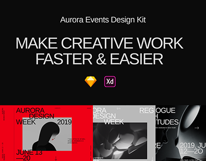 Aurora Events Design Kit - Sketch & Adobe Xd