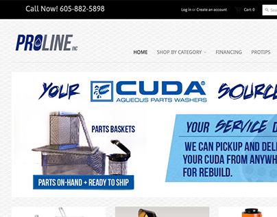 Proline Inc Shopify E-commerce Website Design