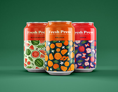 FreshPress Juice Brand Identity & Packaging