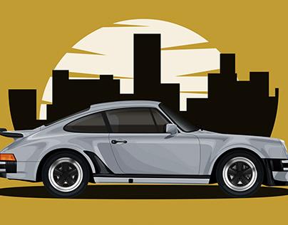 Porsche 911(930) Vector