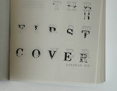 The First Cover - A Typography Process Book