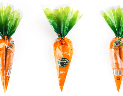 Package design for Vegetoria carrot
