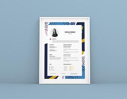 Creative Resume CV Design Template