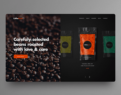 Coffee Roasting company UI design