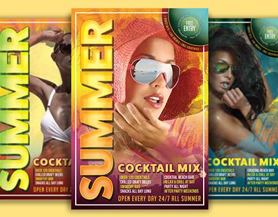 Summer Cocktail Mix Flyer Template
