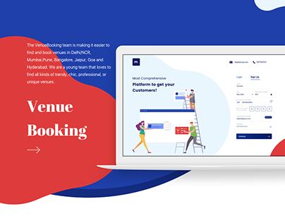 Venue Booking Landing Page