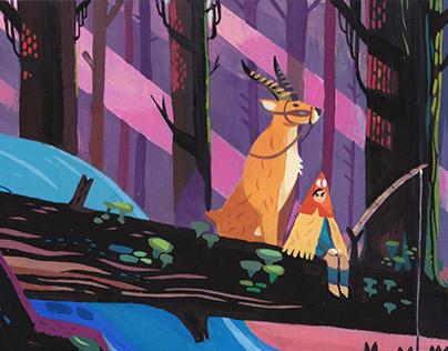 Ghibli Tribute painting