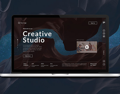 UI/UX Design for Creative Studio
