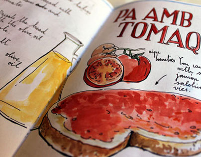 Tapas - Sketchbook Project 2015