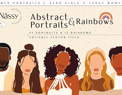 Abstract Women&Men Portraits