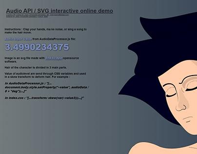 Audio SVG Interactive demo