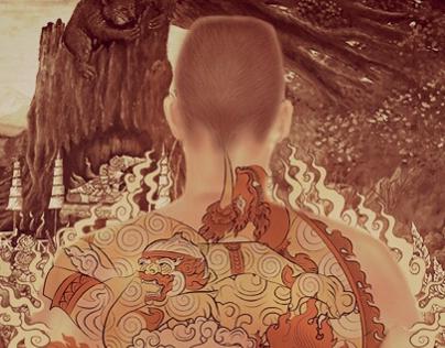thai mural tattoo
