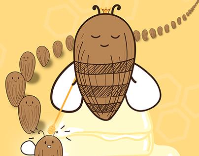 Honey Butter Almond Magazine Ad
