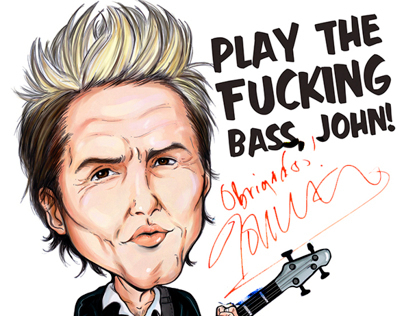 John Taylor Caricature (From Duran Duran band)