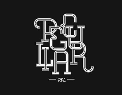 Lettering for Peculiar PPL | Brand Clothes