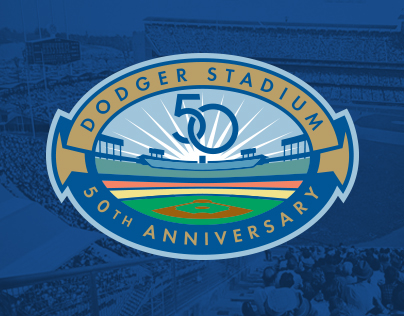 Dodger Stadium 50th Anniversary Logo