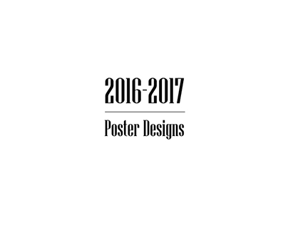 2016-2017 - Poster Designs