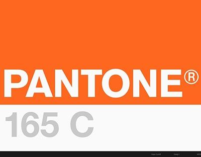 PANTONE 165C : Color Study