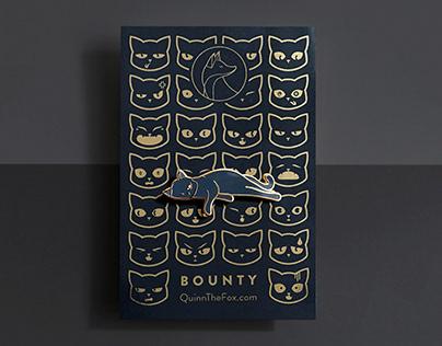 Bounty the Black Cat Enamel Pins
