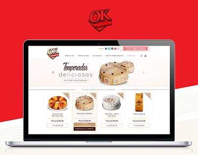 Pastelería OK Website Corporativo
