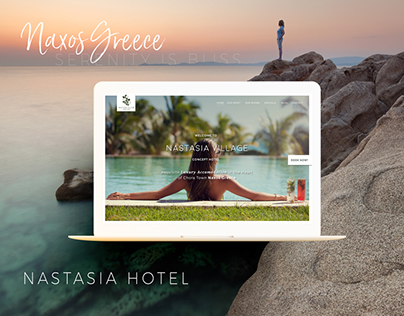 Luxury Greece Hotel Website - Nastasia Village Naxos