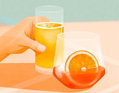 Beverages illustrations