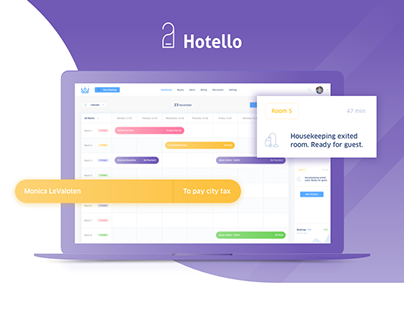 Hotello - Landing Page and UI Hotel Software