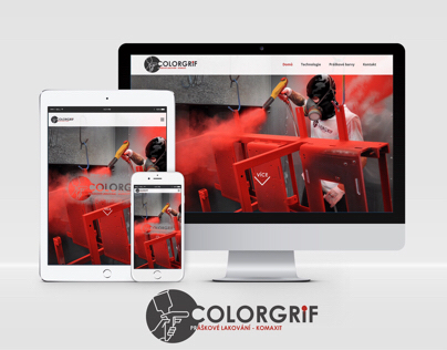 Webdesign & business card graphic - Colorgrif