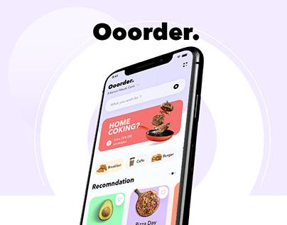 Ooorder Delivery app