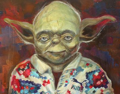 """""""Yoda, Romanian peasant wearing Puma apparel """""""