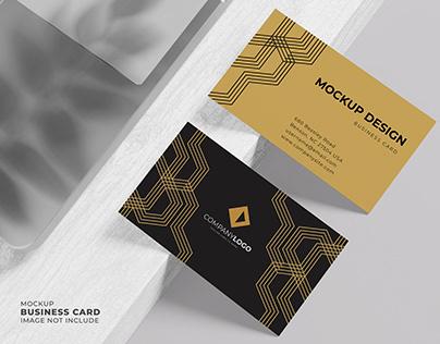 Top View Premium Business Card Mockup
