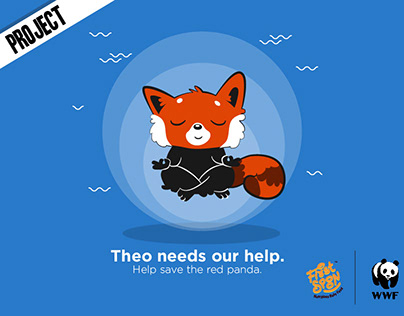 Red Panda mascot for 'First Spoon'