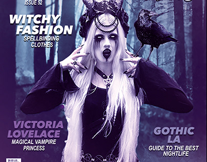 Gothic Beauty Magazine Cover