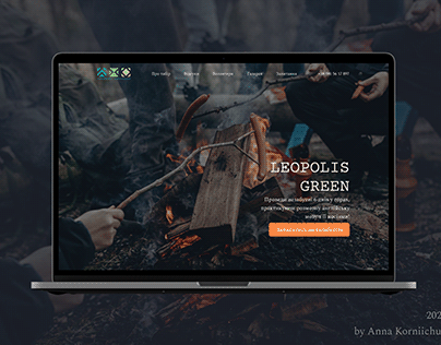 Landing page for tour company
