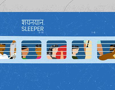 Backpacking to India Illustration