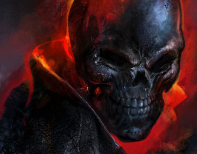Ghost Rider Digital Painting