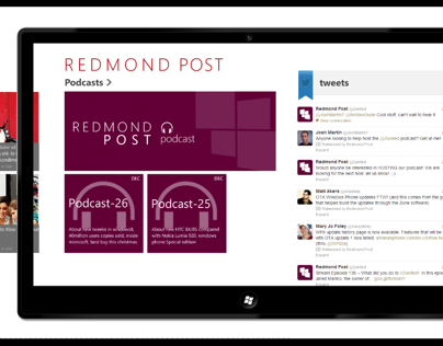 Redmond Post Concept App design