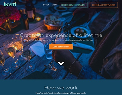 Inviti Event Planner Website