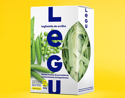 LEGU Packaging: Fresh pasta made from pulses