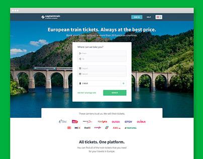 Captain Train - Homepage Design