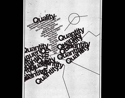 Quality — 122 of 365 — Poster Per Day