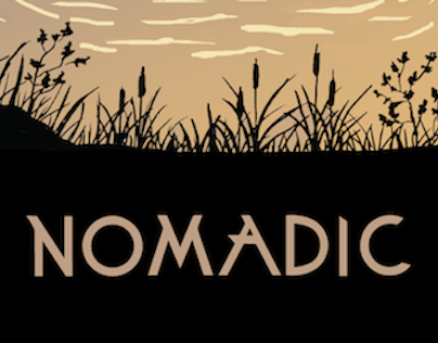 Nomadic- a conceptual hand-drawn landing page