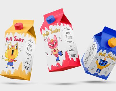 """Character design for milkshakes """"Fruit animals"""""""