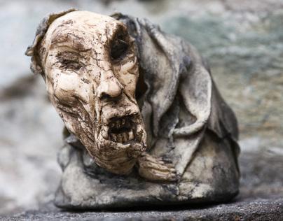 German.OOAK Doll Sculpture.  Mixed media.