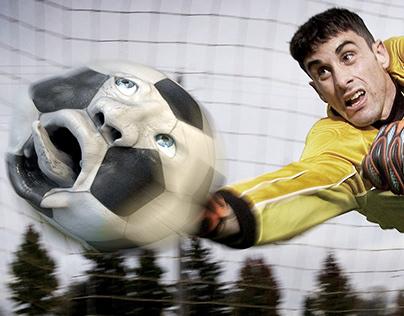 """""""Eigentor - Own goal"""" . Ball designt in Cinema 4D"""