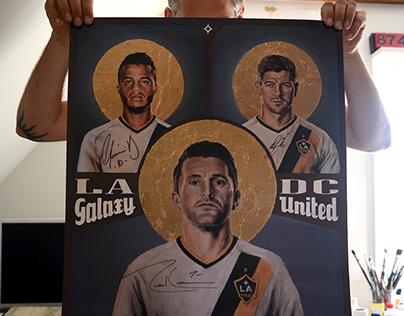 LA Galaxy Match Poster