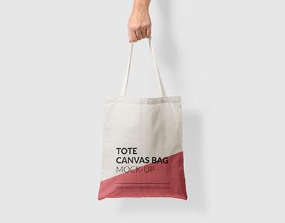 Canvas Tote Bag Mock-Up Vol.1
