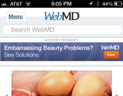 WebMD mobile website