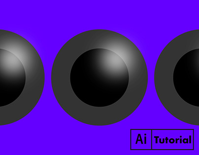 3D Ball, Sphere, Shapes with Light Effect - Illustrator